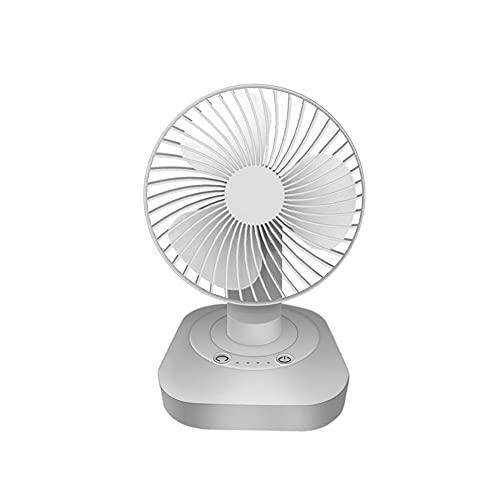 CZFSKCZfs Ventilador Pequeño, Mover Head Ventilador Mini Desktop USB Pequeño Ventilador Recargable Home Office Silent Fan, Rosa, Blanco, Verde (Color : White)