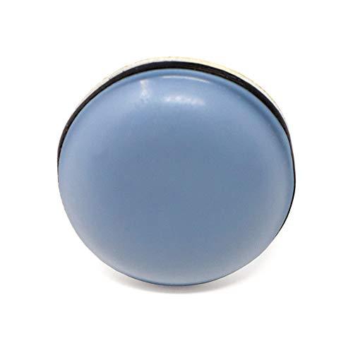 Adsamm® 16 x PTFE-Gleiter | Ø 20 mm | Grau-Blau | rund | Selbstklebende Möbelgleiter in Premium-Qualität von Adsamm®