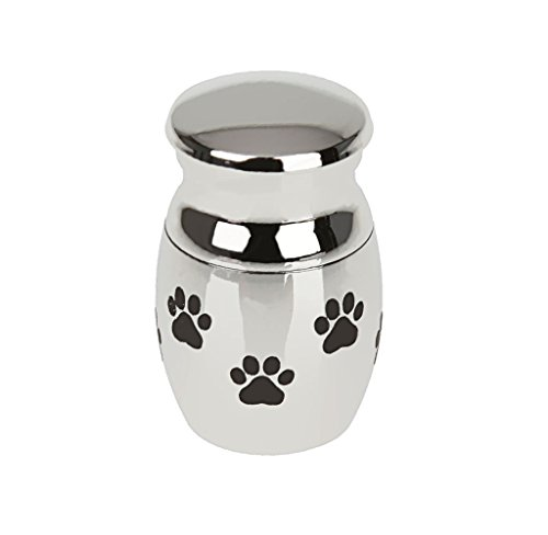 Kesoto Mini Pet Urn Cremation Ashes Jar Loving Pet Dog Paw Best Friend Waterproof Casket