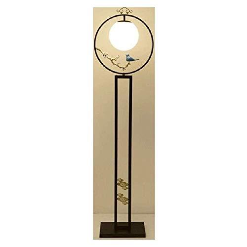LHJCN Lámpara de pie Retro Lámpara de Mesa Vertical Zen clásica para Sala de Estar Lámpara de Palacio Lámpara de Estudio de Dormitorio de Estilo Chino Moderno