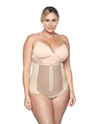 Bellefit Cheekster Postpartum Recovery Compression Corset Cheeky Shapewear (XX-Large) Beige