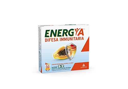 Energya Difesa Immunitaria 14 stick pronti all\'uso solubili in acqua. Integratore alimentare