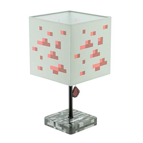Paladone Minecraft Redstone Lampe mit LED-Licht und UK-Standard-Wandstecker, mehrfarbig