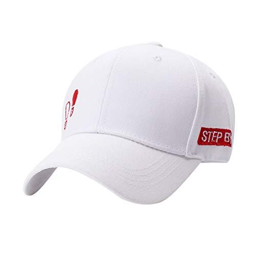 IYU_Dsgirh Gorra de Béisbol Sombrero de Verano Sombrero para el Sol Sombrero de Hip Hop para Hombres y Mujeres (Blanco)