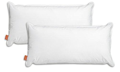 sleepling 194094 Conjunto de 2 Almohadas de Agua, Uso Terapéutico, 50 x 70 cm, Funda de Algodón, Blancas