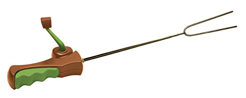 """Hog Wild Reel Roaster, 27"""" - For Marshmallows, Hot Dogs, Camping, Barbeques, Fire Pits & More - Stainless Steel Extendable Rotating Skewer - Kids & Adults 8+"""