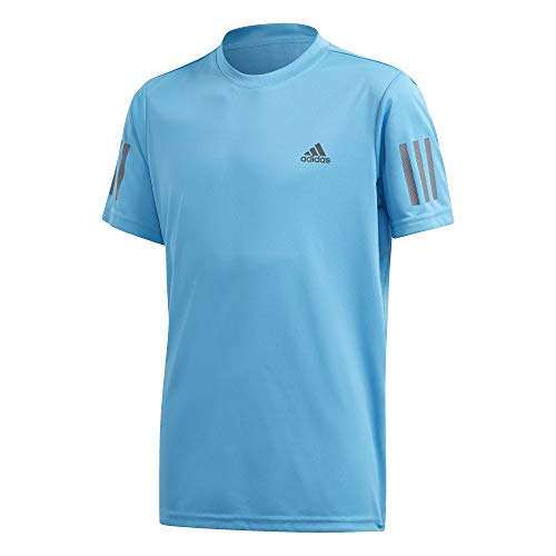adidas B Club 3str tee Camiseta de Manga Corta, Niños, Fresh Splash/Grey Six, 1112Y