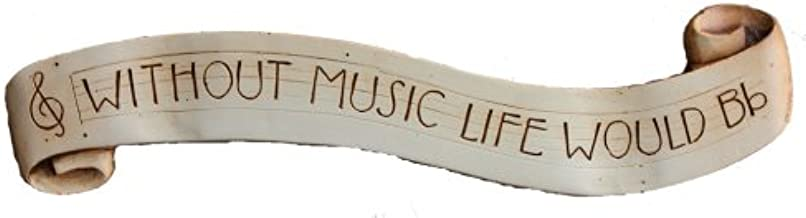 product image for Musicians wall plaque Without Music Life would b flat