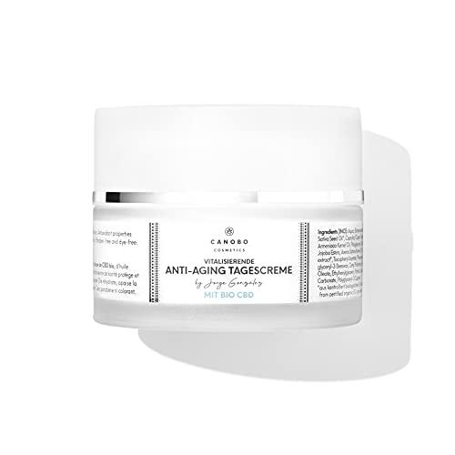 Canobo Cosmetics Anti-Aging Tagescreme mit Bio CBD by Jorge González | schützt und verjüngt die Haut | mit Bio CBD Aprikosenöl, Haferöl & Sheabutter | kein THC, keine Parabene, keine Farbstoffe, 50 ml