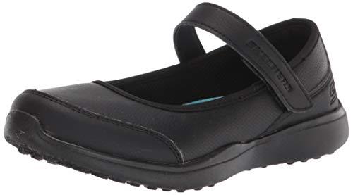 Skechers girls Microstrides-class Spirit Uniform Dress Shoe, Black, 1.5 Little Kid US