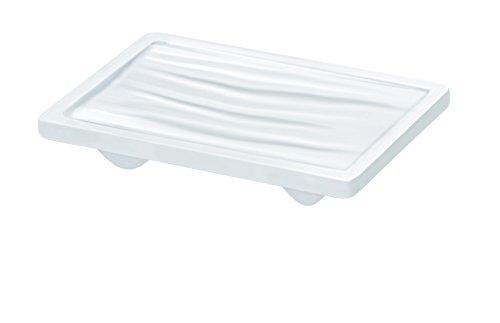 Guzzini Wave Portasapone 14 x 9,5 x H 3 cm, Bianco