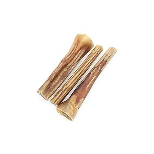 Ochsenziemer Hund 10 cm S - Hundeleckerli - Zahnpflege Hund - 100% Natürliches Getrocknetes Kauspielzeug Hund, 3 Stück