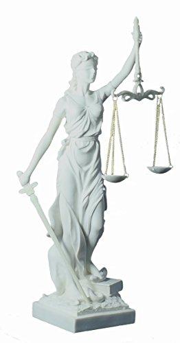 colourliving Dekofigur Justitia Göttin der Gerechtigkeit Skulptur weiß Wohnung Dekoration Büro