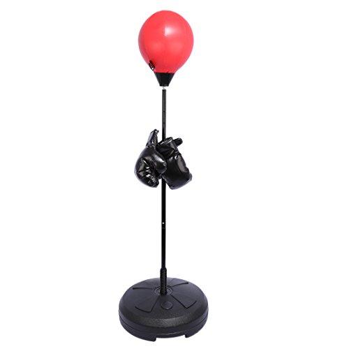punchingball Standfuß, Foxom 120-150cm Höhenverstellbar Boxball Standboxball Punchingball Boxen Set mit Boxhandschuhen Für das Boxtraining
