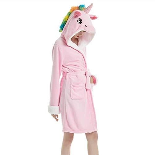 YISHU Erwachsene Einhorn Bademantel mit Kapuze Tier Kostüm Badetuch Kapuzenhandtuch Schlafanzug...