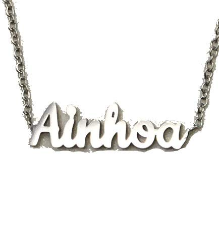 Jey Collar Nombre Mujer INOX (Plata, AINHOA)