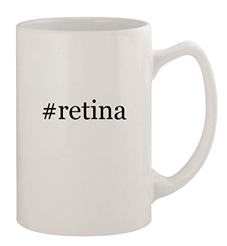 #retina - 14oz Ceramic White Statesman Coffee Mug, White