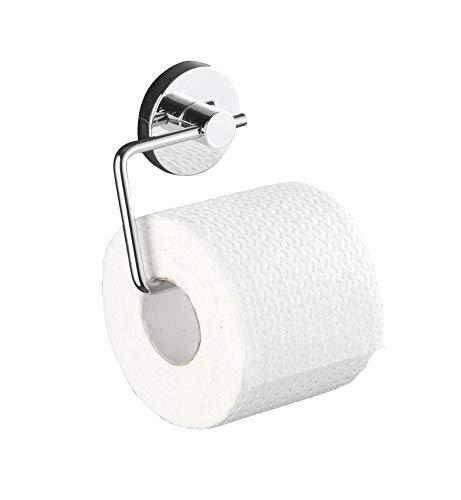 WENKO Vacuum-Loc Wand Toilettenpapierhalter Milazzo, Halter für Toilettenpapier in Badezimmer und WC, verchromtes Metall, 13,5 x 17,5 x 16 cm