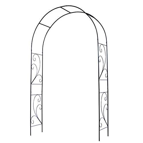 HXFAFA Rose arch, garden arch, outdoor flower garden arch trellis, decorative garden arbour, made of metal, robust garden arbour made of steel for climbing plants, ideal for climbing vines and plants.