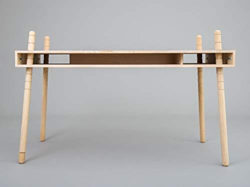 CASPAR Senior Eiche 130 x 65cm - in der Höhe verstellbarer Design-Schreibtisch von PERLUDI - Hergestellt in Deutschland - diverse Farben