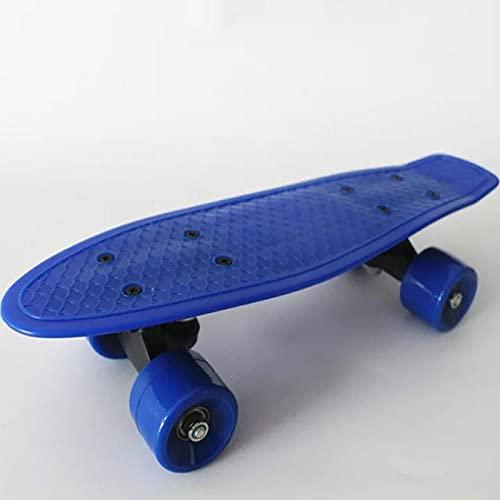 Niños Mini Tablero Plástico Cruiser Skateboard Completo Montaje CHIROS PEQUEDOS PEQUEDOS PEQUETES PEQUEÑOS PANTILLA Skate TOTAS DE Juguete Scooter-Azul