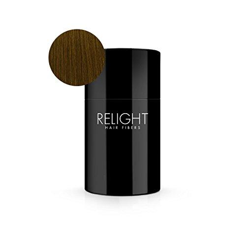 Relight Haarfasern - natürlicher Look dank natürlicher Formel. Volles Haar in Sekunden! (hellbraun) Haarverdichtung Schütthaar
