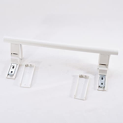 ANAKEL HOME- S-TIRADOR-PALANCA compatible con frigorífico LIEBHERR 7432602, 31cm -color blanco - con tapas embellecedoras