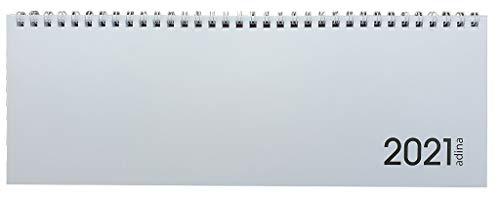 2021 ADINA Tischquerkalender 1 Woche auf 2 Seiten Schreibtischkalender 30x10cm (2021, weiss)