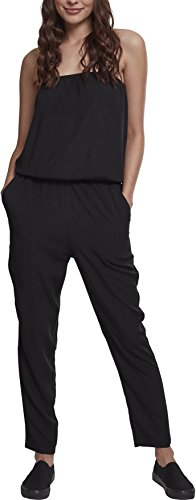 Urban Classics Damen Ladies Viscose Bandeau Jumpsuit, Schwarz (Black 00007), Medium