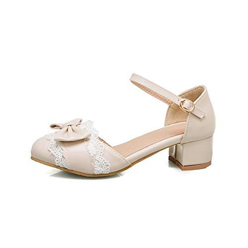 Zapatos Mary Jane Para Mujer, Estilo Dulce, Encaje, Bowknot, Hebilla, Correa, Bombas, Cómodos,...