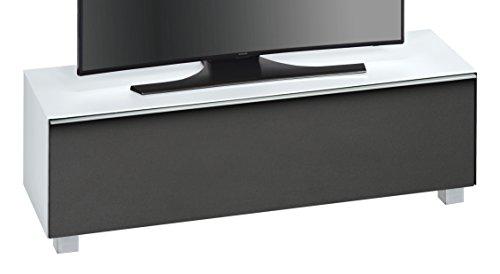MAJA Möbel SOUNDCONCEPT GLASS 7736 Soundboard Weißglas matt - Akustikstoff schwarz, Abmessungen (BxHxT):140,20 x 43,30 x 42 cm, Glas, 20 x 42 x 43,30 cm