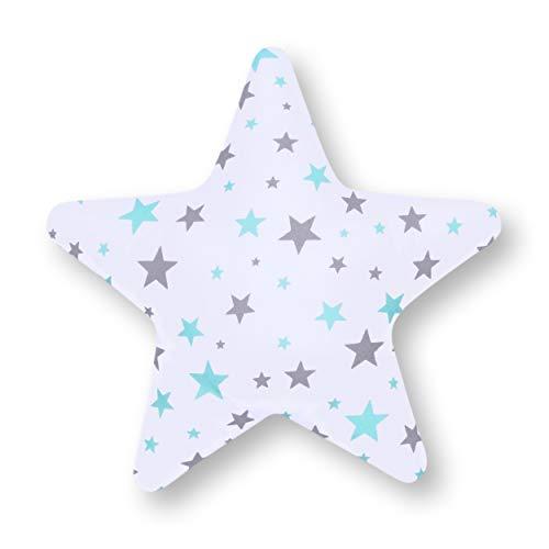 Amilian Coussin en forme d'étoile KLEIN Turquoise 28 cm