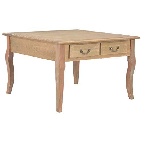 Lasamot Couchtisch Wohnzimmertisch Laptoptisch Sofa-Beistelltisch für Wohnzimmer Schlafzimmer Braun 80 x 80 x 50 cm Holz