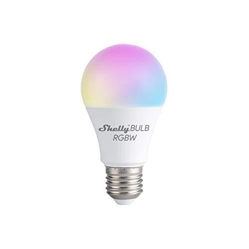 Shelly DUO E27 LED Lampe, Dimmbar, 9W RGB+W - Smart WiFi Mehrfarbig Kompatibel mit Alexa Echo, Google Home, Kein Hub Erforderlich, Kostenlose Shelly App