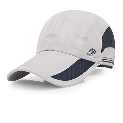 Sport Cap Summer Quick Drying Sun Hat UV Protection Outdoor Cap for Men, Women Gray/Black