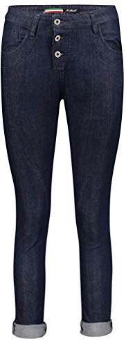 Please Damen Jeans P78a Boyfriend - Blau - Dark Blue Denim XXS XS S M L XL Stretchjeans 98% Baumwolle Denim Deluxe, Größe:XL, Farbvariante:Dark Blue Denim (1670)
