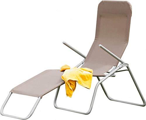 LLPXCC Gartenstuhl Wellnessliege Klappbar Stahlkonstruktion atmungsaktiv Outdoor Dreibeinliege Liegestuhl gepolstert HD-1024