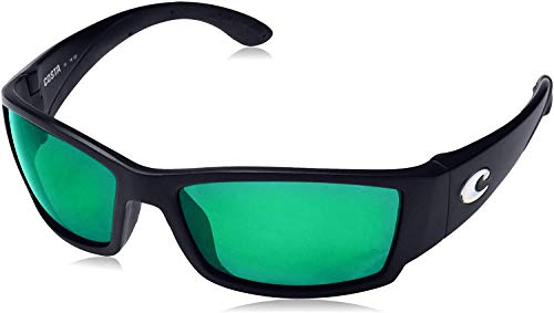 Costa Del Mar Corbina Sunglasses, Black, Green Mirror 580G Lens