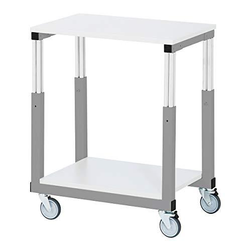 RAU Tischwagen ESD, Melaminharzplatte LxB 700 x 500 mm - Werkzeugwagen und Montagewagen assembly trolleys