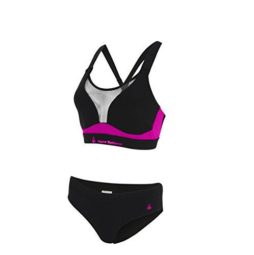 Aqua Sphere - Bikini Kuma, Mujer, Kuma, Negro/Rosa