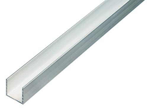 GAH-Alberts 470357 U-Profil | Aluminium, natur | 1000 x 25 x 25 mm