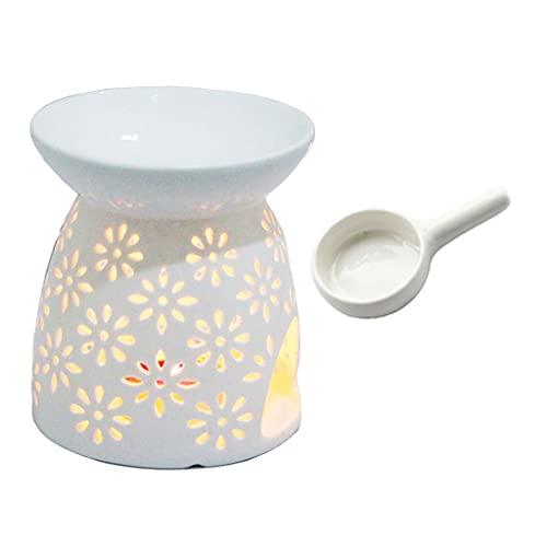 LEEleegang Aromatic Oil Burner, Geometric Ceramic Essential Oil Candle Holder Wax Melt Burn