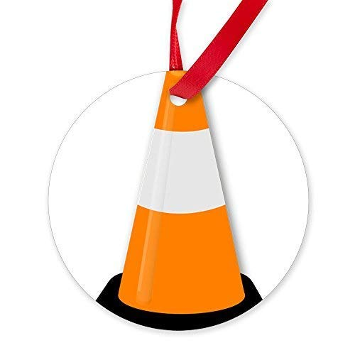 BorisMotley Traffic Cone Ornament - Round Christmas Ornament