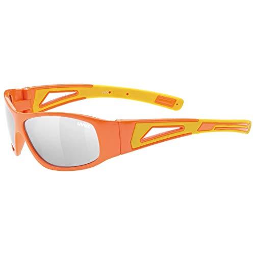 uvex Unisex Jugend, sportstyle 509 Sonnenbrille, orange-yellow/silver, one size