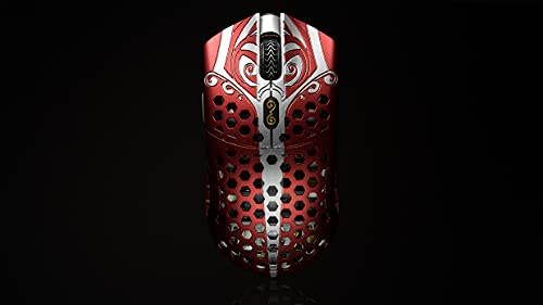 Finalmouse Starlight-12 Wireless Gaming Mouse (Multiple Variations) (Small, Ares, Red)