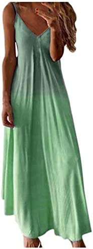 Womens Tie Dye Maxi Dresses Sleeveless Casual Sexy Vintage Floral Summer Boho Bodycon Long Dress product image