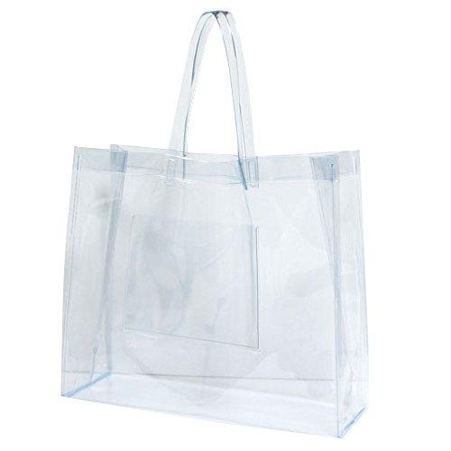 抗菌 透明ビニールバッグ Lサイズ