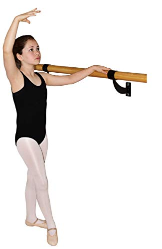 Barre Trainer 1.5 inch Single Bar Traditional Wood Fixed Wall Mount Ballet Barre (3)