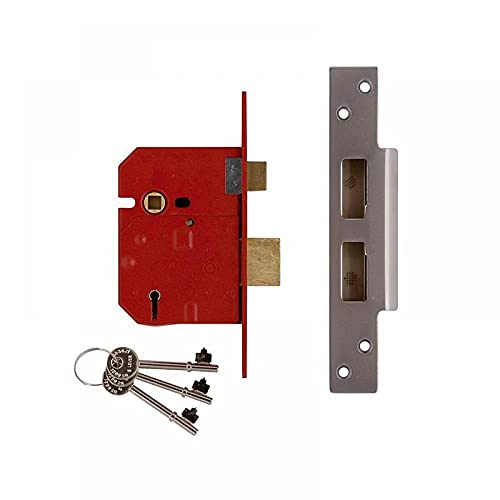 Union Locks 2234E 5 Lever BS Mortice Sash Lock Plated 67mm - Brass Finish (Visi Pack)