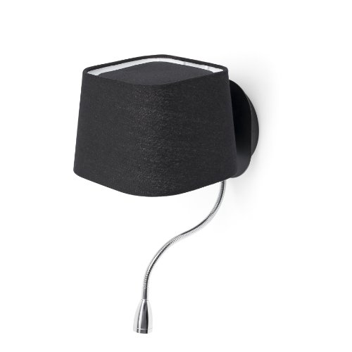 Projecteur LED Plafonnier Barcelona Sweet 29951 15W écran et tissu de métal noir